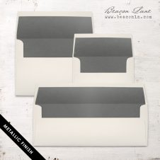 Gray Metallic Envelope Liner