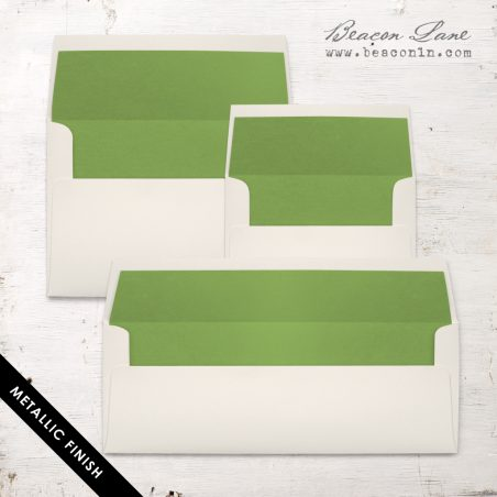 Green Metallic Envelope Liners