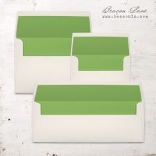 Green Solid Envelope Liners