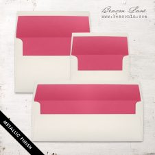 Hot Pink Solid Envelope Liners