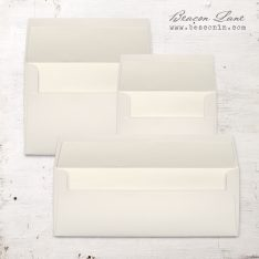 Ivory Solid Envelope Liners