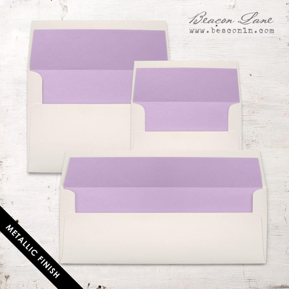 Lavender Metallic Envelope Liner