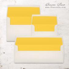 Lemon Yellow Solid Envelope Liners