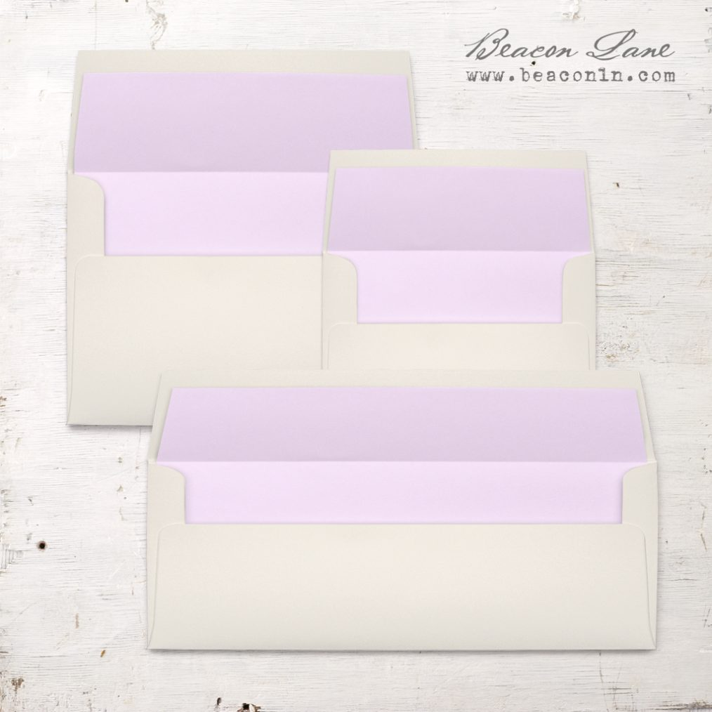 Lilac Solid Envelope Liners