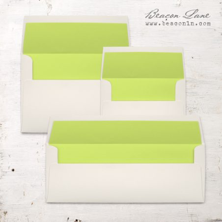 Lime Green Envelope Liners