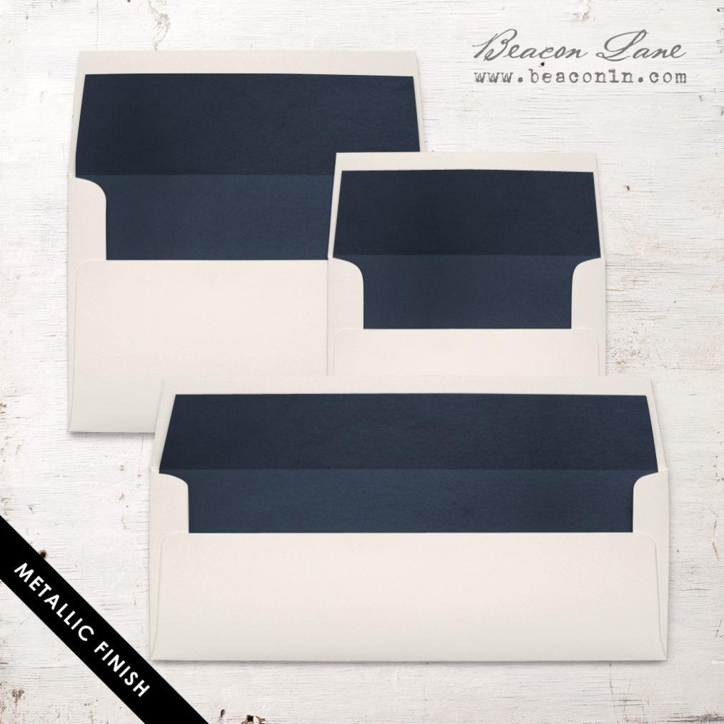 Navy Metallic Envelope Liners