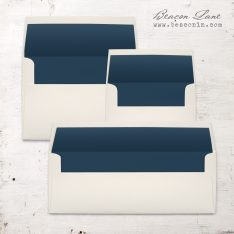 Navy Solid Envelope Liners