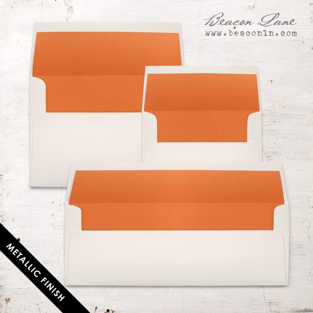 Orange Metallic Envelope Liners