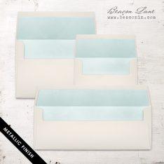 Pale Aqua Metallic Envelope Liners