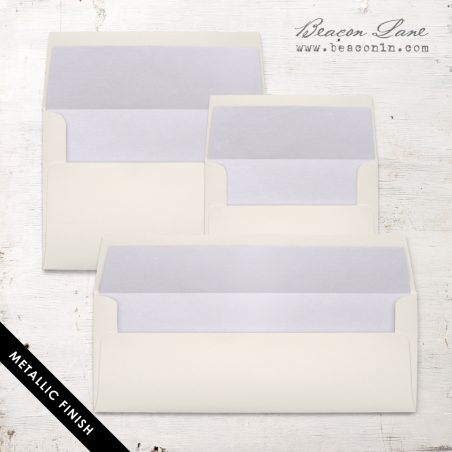 Pale Lilac Metallic Envelope Liners