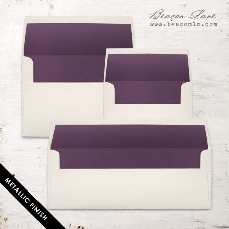 Plum Metallic Envelope Liners
