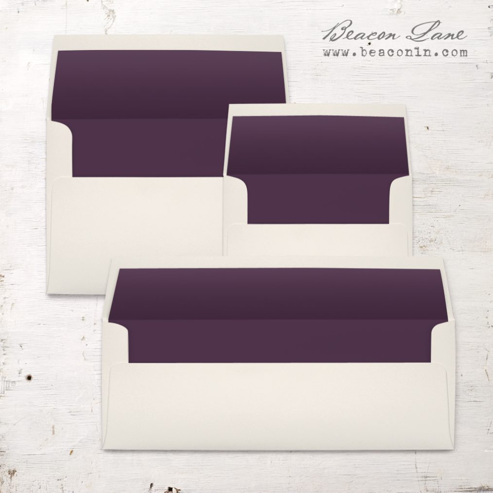 Plum Solid Envelope Liners