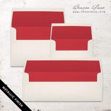Red Metallic Envelope Liners