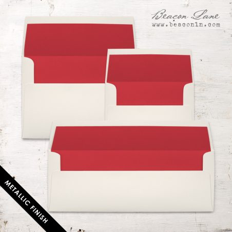 Red Metallic Envelope Liners
