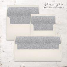 Silver Glitter Envelope Liners