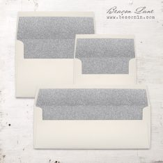 Silver Glitter Envelope Liners