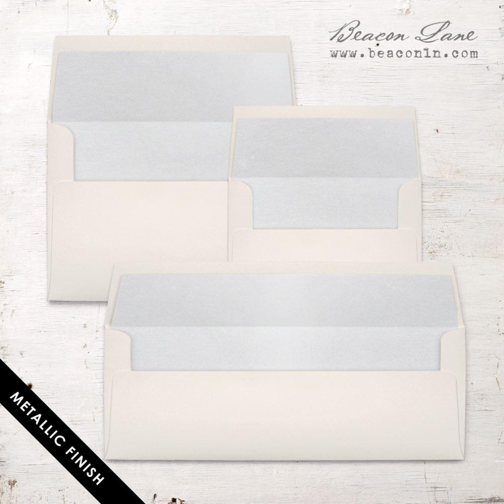 Silver Metallic Envelope Liners