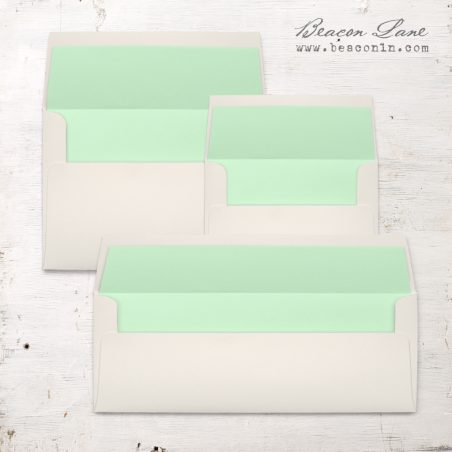 Spearmint Solid Envelope Liners
