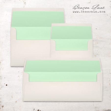 Spearmint Solid Envelope Liners
