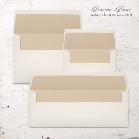 Taupe Solid Envelope Liners