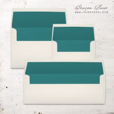 Teal Solid Envelope Liners