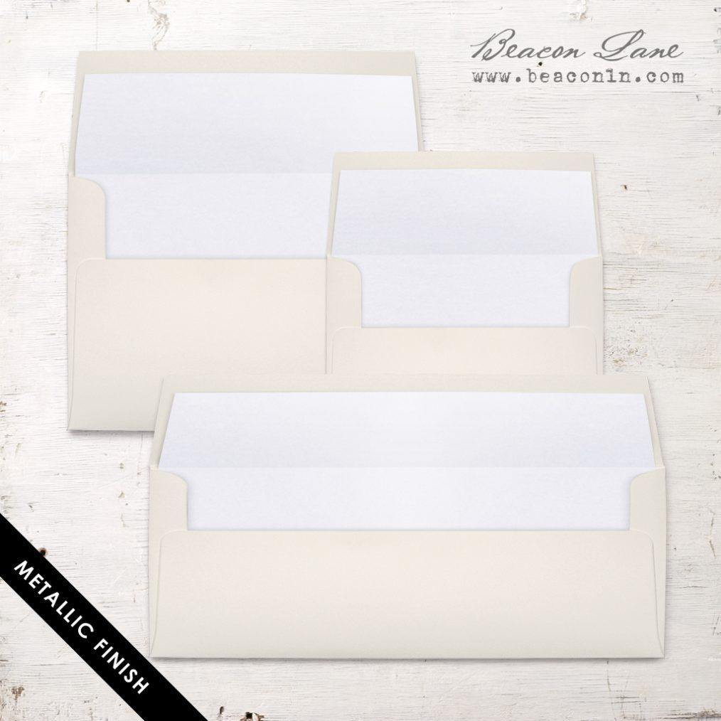White Metallic Envelope Liners