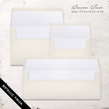 White Metallic Envelope Liners