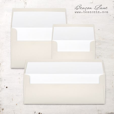 White Solid Envelope Liners