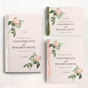 Ivory & Blush Ceremony Booklet