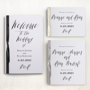 Modern Calligraphy Ceremony Booklet