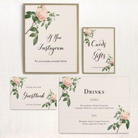 Ivory & Blush Custom Signs
