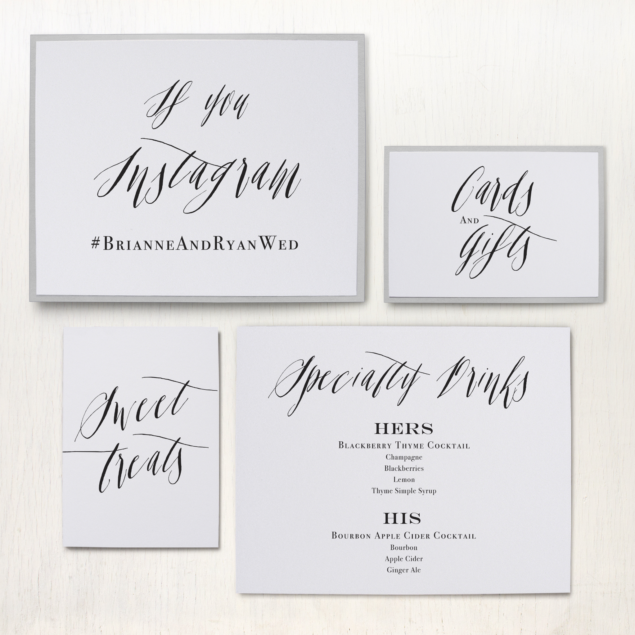 Modern Calligraphy Custom Signs