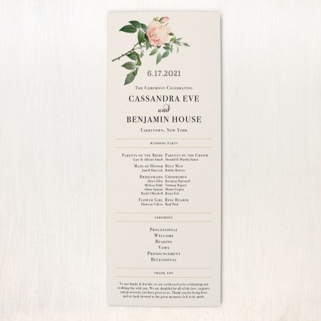 Ivory & Blush Flat Ceremony Programs
