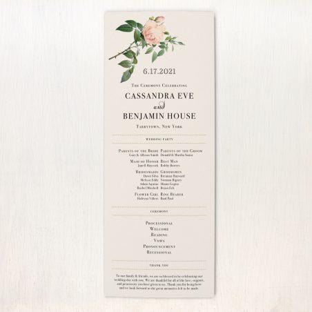 Ivory & Blush Flat Ceremony Programs