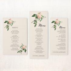 Ivory & Blush Flat Menu Cards