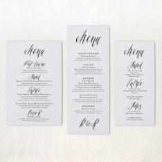 Modern Calligraphy Flat Menu Cards