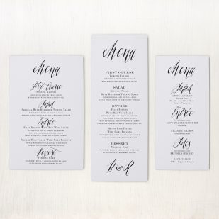 Modern Calligraphy Flat Menu Cards