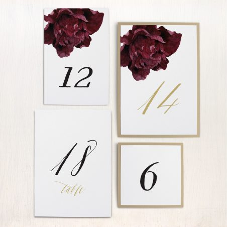 Modern Boho Flat Table Numbers