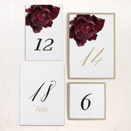 Modern Boho Flat Table Numbers