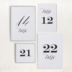 Modern Calligraphy Flat Table Numbers