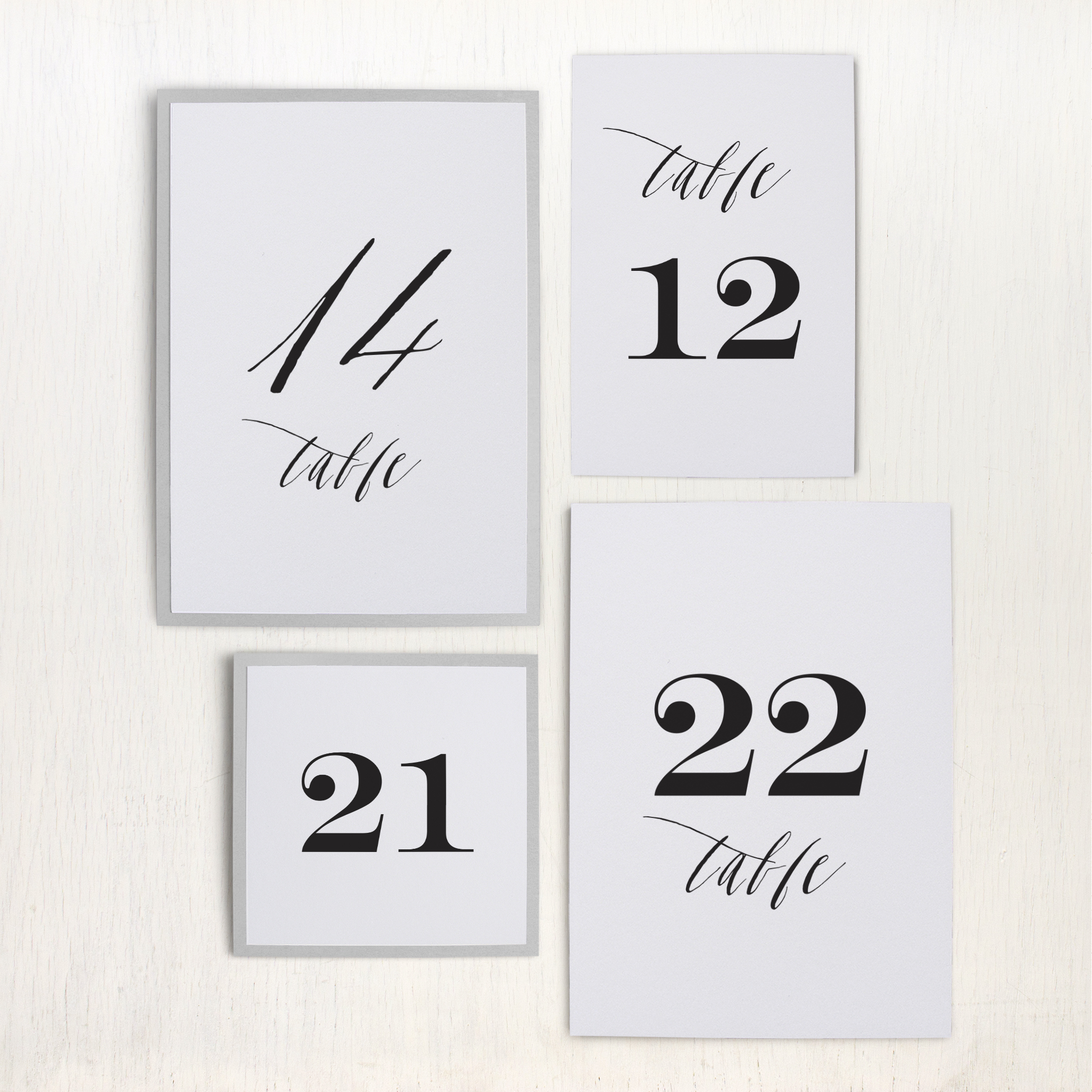 Modern calligraphy customizable table numbers beacon lane