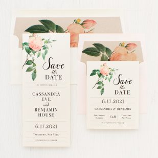 Ivory & Blush Save the Dates