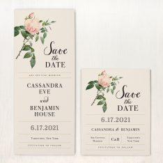Ivory & Blush Save the Dates