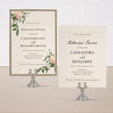 Ivory & Blush Rehearsal Invitations
