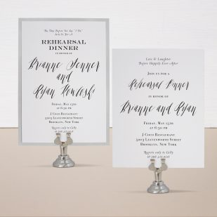 Modern Calligraphy Rehearsal Invitations