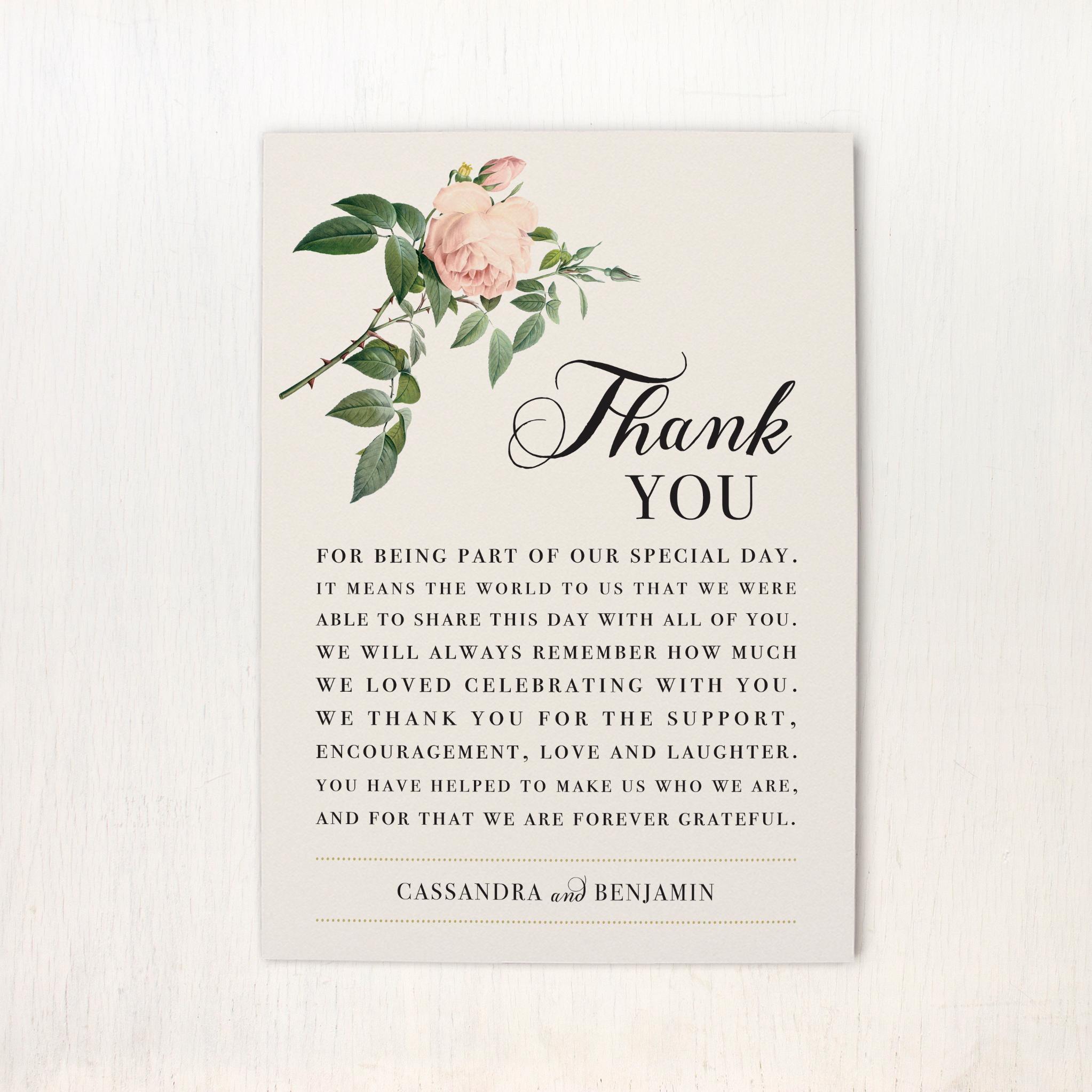 Ivory & Blush Reception Thank Yous