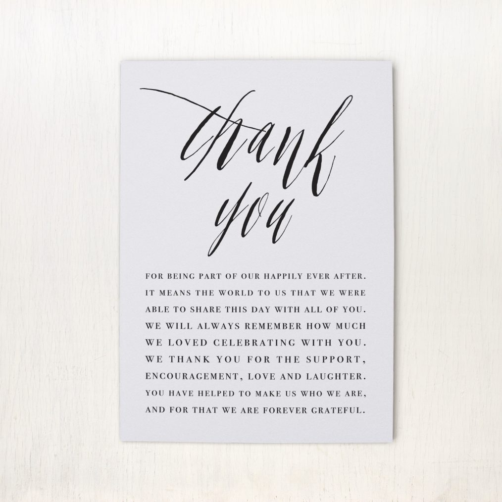 Modern Calligraphy Reception Thank Yous