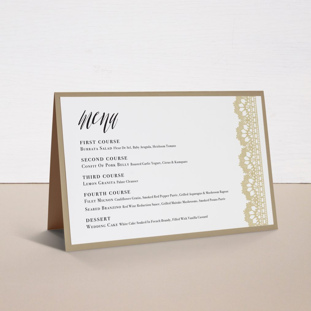 Modern Boho Tented Menu Cards