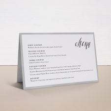dern Calligraphy Tented Menu Cards