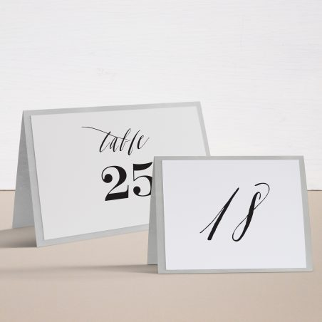 Modern Calligraphy Tented Table Numbers